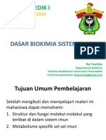 Dasar Biokimia Sistem Imun 2018