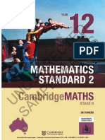 Cambridge mathematics standard 2 year 12 TOC