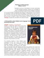 Guidance on Child Language Readings