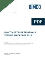 Bimco Dry Bulk Terminal Vetting Report 2018