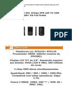 Celular Mp20 G91 2Chips GPS Wifi TV CAM MSN