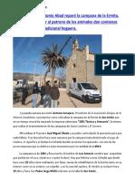 La Cofradía de San Antón reparó la campana