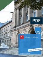 SWU PocketFahrplan Linie1 DINA4 2019