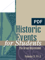 Richard Clay Hanes Historic Events for Students-The Great Depression Vol 1 (2002)