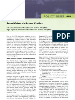 Sexual Violence in Armed Conflicts PRIO Policy Brief 1 2010
