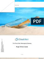 Cloud Alert Application Integration - Plugin Writers Guide