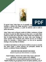 Devoción a San Judas Tadeo Parte I