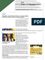 Agora Paraná _ Paranaense, Jornalista Sandra Terena é a Primeira Indígena Da História a Ocupar Secretaria No Governo Federal