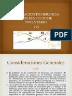 Aceptación de La Herencia Con Beneficio de Inventario