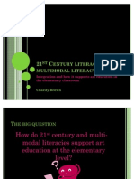 21st Century Literacy, Multimodal Literacy and Art