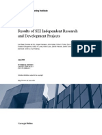 Results of SEI Independent Research and Development Projects