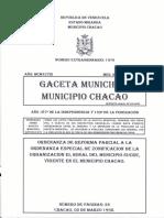Ordenanza Especial de Zonificacion El Rosal g.m.n.e. 1979 03-03-1998