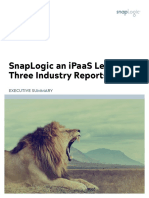 SnapLogic - Market Leader 3 Industry Reports Jan 2019