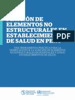 Fijación de Elementos Estructurales en establecimientos de salud en el Peru