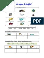 Moyens de Transport Vocabulaire Activites Ludiques Briser La Glace Liste de Vocabu 23825