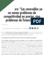 """Óscar Barrero_ """"Las Renovables Ya No Tienen Problemas de Competitividad en Precios, Sino Problemas de Financiación"""" _ Energía y Sociedad"""