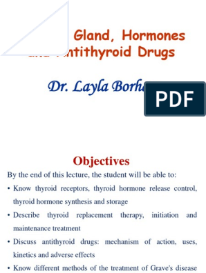 Thyroid Gland Hormones And Antithyroid Drugs Dr Layla Borham