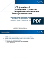 CFD Simulation of a Two Stage Twin Screw Compressor Including Leakage Flows and Comparison With Experimental Data