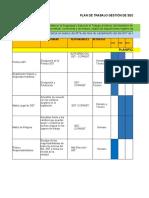 Cronograma de Actividades Sistema de Gestion de Seguridad y Salud 2018