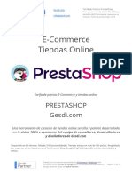 Gesdi E Commerce Tarifa de Precios PrestaShop