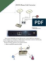GSM PSTN Phone Converter Usermanual