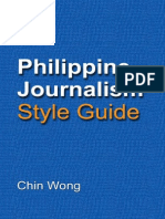Philippine Journalism Style Guide - 01