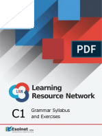 C1 Grammar Syllabus and Exercises for the LRN