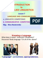 Ppt 7 Communicative vs Linguistic Competence
