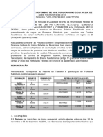 Edital Nº 52.2018 Professor Substituto 2019.1