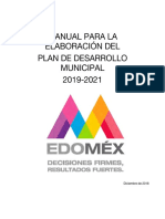 Manual Plan Desarrollo Municipal 2019 2021