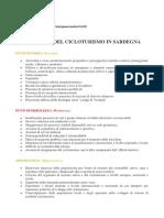Analisi SWOT Cicloturismo Sardegna