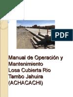 Manual de Op y Mant Tambo Jahuira