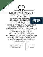 Protocolo de Orientações a Respeito Da Higienização Do Paciente(1)