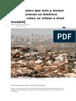 Los 10 Países Que Más y Menos Basura Generan en América Latina