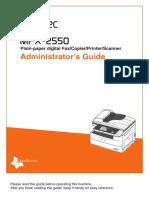 Muratec MFX-2550 Admin Guide