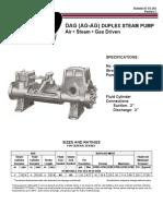1019 Dag Ag Ag Duplex Steam Pump