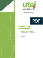 Evidencia Aprendizaje Bases Juridicas y Mercantiles Semana 1 P