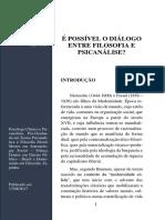 é Possível o Diálogo Entre Filosofia e Psicanálise_ PDF