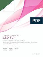 LG TV Manual