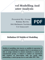 (Fix)Multilevel Modelling and Cluster Analysis (Group 10)