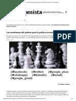 Las Enseñanzas Del Ajedrez Para La Política Económica - El Economista