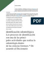 Identificacion en Odontologia Forense