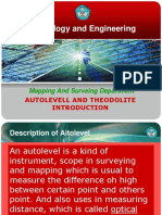 Autolevel and Theodolite Introduction