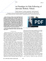 A Robust Control Paradigm for Path Following of an Underwater Robotic Vehicle