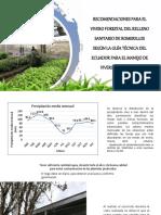 Recomendaciones Para El Vivero Forestal Del Relleno Sanitario