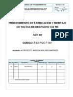 Procedimiento de Fabricacion y Montaje de Tolvas de Producto Terminado 120 Tm