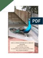 Informe de Visita Al Parque Historico de Guayaquil