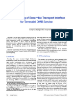 Re Multiplexing of Ensemble Transport Interface for Terrestrial DMB Service