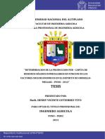 Analissi de Oroduccon Per Capita de Resiudos Solidos Domiciliarios Orurilllo