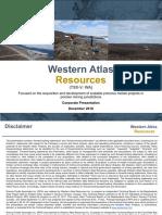 Western Atlas Resources December 2018 2